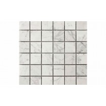 Crystal White Square Mosaic Polished