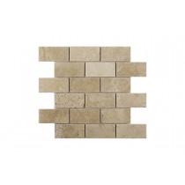 Classic Travertine Tumbled Mosaic