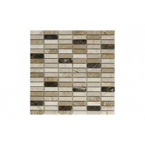 Light and Dark Emprador Rectangular Mosaic